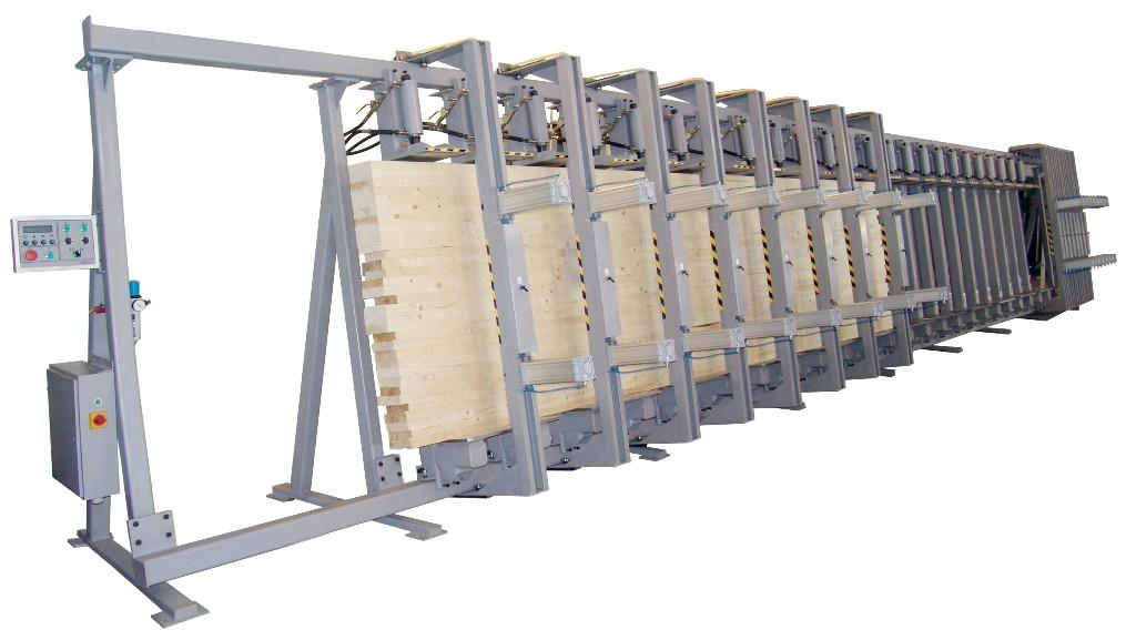 Однопролётные гидравлические пресса для изготовления бруса от 3м до 12 метров, ПВ3000, ПВ6000, ПВ12000