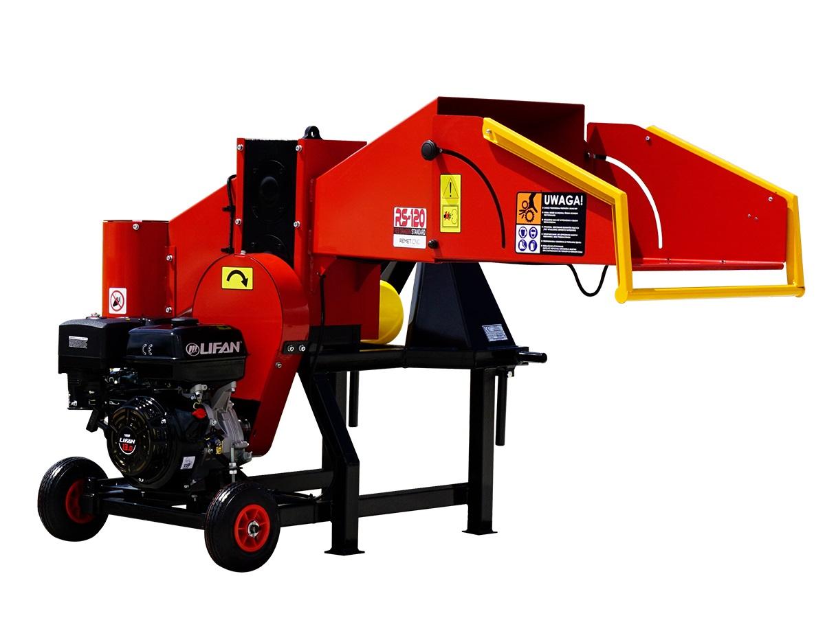 Барабанная рубительная машина с приводом от дизельного двигателя MODEL RS-120+WOM