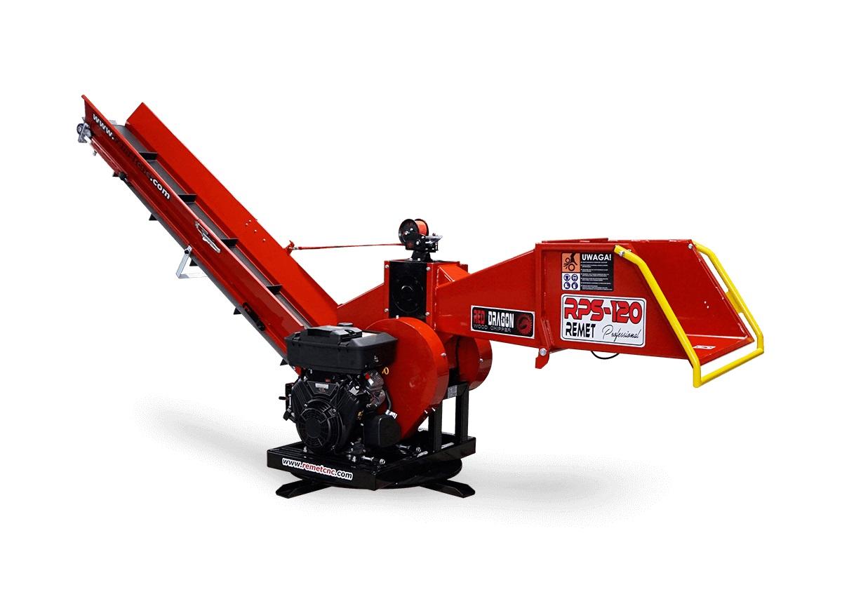 Барабанная рубительная машина с приводом от дизельного двигателя MODEL RPS-120 + ПОВОРОТНЫЙ КРУГ