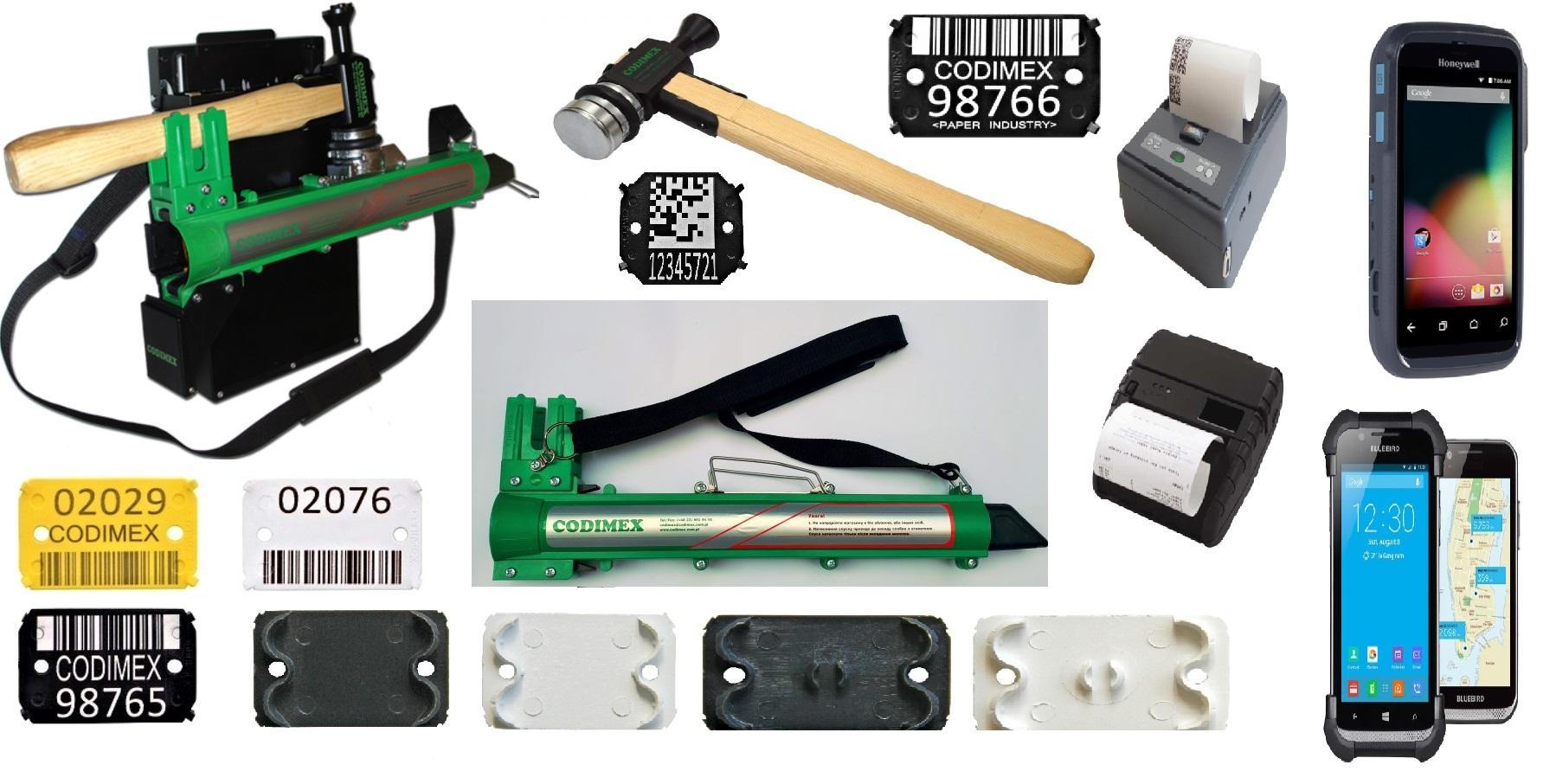 Бирки для маркування деревини, вимірювальні та маркувальні системи для лісового господарства